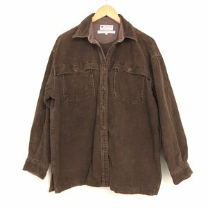 Columbia Corduroy Button Front Lightweight Shacket